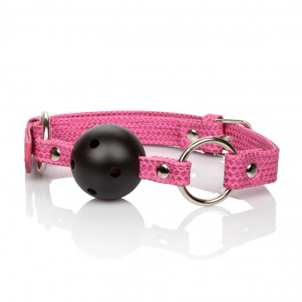 Розовый кляп CalExotics Tickle Me Pink Ball Gag